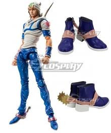 JoJo's Bizarre Adventure Johnny Joestar Blue Pink Cosplay Shoes
