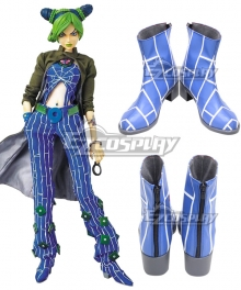 JoJo's Bizarre Adventure Jolyne Cujoh Blue  Cosplay Shoes New Edition