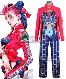 JoJo's Bizarre Adventure: Stone Ocean Jolyne Cujoh Red Blue Cosplay Costume