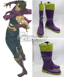 JoJo's Bizarre Adventure: Battle Tendency Joseph Joestar Purple Shoes Cosplay Boots