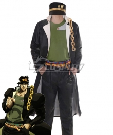 JoJo's Bizarre Adventure Kujo Jotaro Green Vest Cosplay Costume