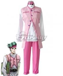 Jojo'S Bizarre Adventure : Unbreakble Diamond Rohan Kishibe Pink Cosplay Costume