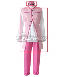 Jojo'S Bizarre Adventure : Unbreakble Diamond Rohan Kishibe Pink Cosplay Costume - head band jacket