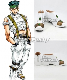 JoJo's Bizarre Adventure: Diamond is Unbreakable Rohan Kishibe White Golden Cosplay Shoes