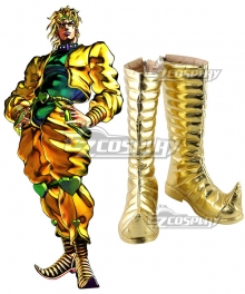 Jojo'S Bizarre Adventure:Stardust Crusaders Dio Brando Golden Cosplay Boots
