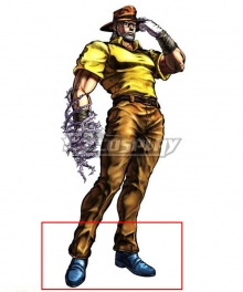 Jojo'S Bizarre Adventure: Stardust Crusaders Joseph Joestar Blue Cosplay Shoes