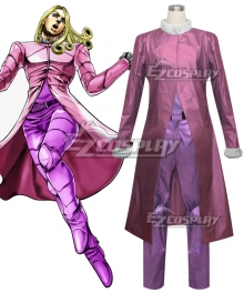 JoJo's Bizarre Adventure: Steel Ball Run Funny Valentine Pink Cosplay Costume