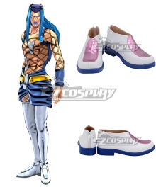 Jojo'S Bizarre Adventure:Stone Ocean Narciso Anasui White Cosplay Shoes