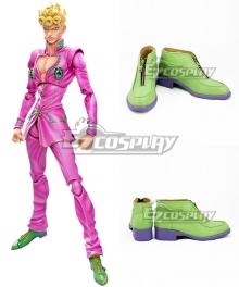 JoJo's Bizarre Adventure Vento Aureo Giorno Giovanna Green Cosplay Shoes