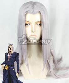 JoJo's Bizarre Adventure Vento Aureo Golden Wind Anime Edition Leone Abbacchio Grey Cosplay Wig