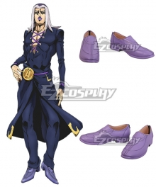 JoJo's Bizarre Adventure: Vento Aureo Golden Wind Anime Edition Leone Abbacchio Light purple Cosplay Shoes