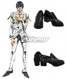 JoJo's Bizarre Adventure: Vento Aureo Golden Wind Bruno Buccellati Bruno Bucciarati Black Cosplay Shoes