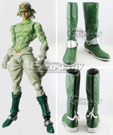 JoJo's Bizarre Adventure: Vento Aureo Golden Wind Diego Brando Green Shoes Cosplay Boots