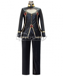 JoJo's Bizarre Adventure: Vento Aureo Golden Wind Giorno Giovanna Black Cosplay Costume Pleather Edition