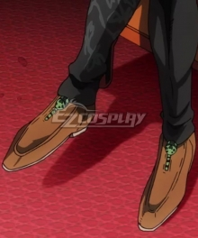 JoJo's Bizarre Adventure: Vento Aureo Golden Wind Giorno Giovanna Final Brown Cosplay Shoes