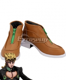 JoJo's Bizarre Adventure: Vento Aureo Golden Wind Giorno Giovanna Final Brown Green Cosplay Shoes