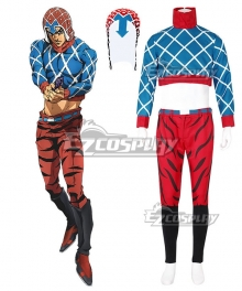 JoJo's Bizarre Adventure: Vento Aureo Golden Wind Guido Mista Cosplay Costume