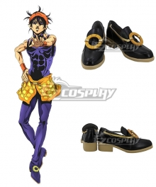 JoJo's Bizarre Adventure: Vento Aureo Golden Wind Narancia Ghirga Black Cosplay Shoes