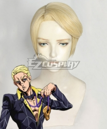 JoJo's Bizarre Adventure: Vento Aureo Golden Wind Prosciutto Golden Cosplay Wig