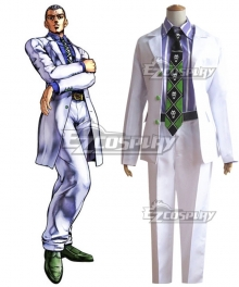 JoJo's Bizarre Adventure: Diamond is Unbreakable Yoshikage Kira White Cosplay Costume