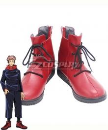 Jujutsu Kaisen Sorcery Fight Yuji Itadori Red Cosplay Shoes