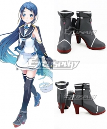 Kantai Collection Samidare Black Cosplay Shoes