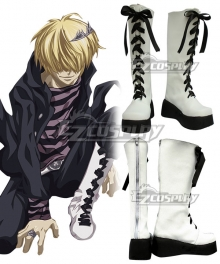 Katekyo Hitman Reborn! Belphegor White Shoes Cosplay Boots