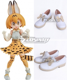 Kemono Friends Serval White Cosplay Shoes