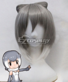 Kemono Friends Small-clawed Otter Anime Grey Cosplay Wig