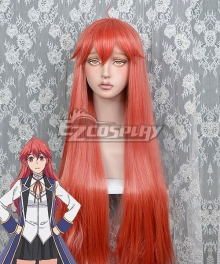 Kenja No Mago Maria Von Messina Red Orange Cosplay Wig