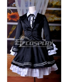 VOCALOID Project Diva F Secret Police Miku Cosplay Costume Deluxe-KH4