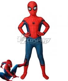 Kids Captain America Civil War Spider-Man Peter Parker Zentai Jumpsuit Cosplay Costume