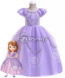 Kids Child Size Disney Princess Sofia Sofia Cosplay Costume