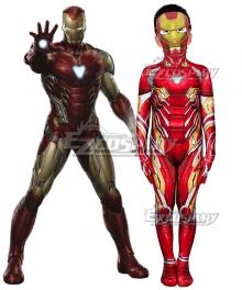 Kids Marvel Avengers iron man ironman Tony Stark Zentai Jumpsuit Cosplay Costume