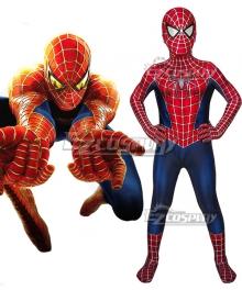 Kids Marvel Movie Spider-Man 2 Tobey Maguire Jumpsuit Cosplay Costume
