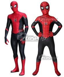 Kids Mavel 2019 Spider-Man: Far From Home  SpiderMan Peter Parker Zentai Jumpsuit Cosplay Costume