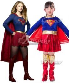 Kids Size DC Supergirl Kara Danvers Cosplay Costume