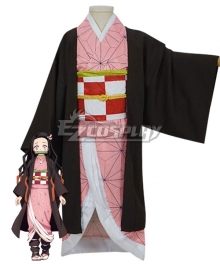 Kids Size Demon Slayer: Kimetsu No Yaiba Nezuko Kamado Cosplay Costume