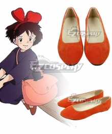 Kiki's Delivery Service Kiki Orange Cosplay Shoes