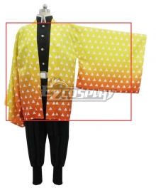 Demon Slayer: Kimetsu No Yaiba Agatsuma Zenitsu Cosplay Costume - Only Coat and Leg wear