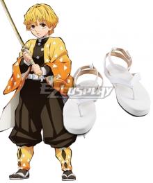 Demon Slayer: Kimetsu No Yaiba Agatsuma Zenitsu White New Edition Cosplay Shoes