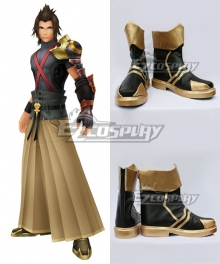 Kingdom Hearts Birth By Sleep Terra Black Golden Cosplay Shoes