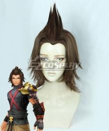 Kingdom Hearts Birth by Sleep Terra Brown Cosplay Wig