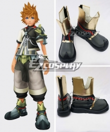 Kingdom Hearts Birth By Sleep Ventus Black Cosplay Shoes