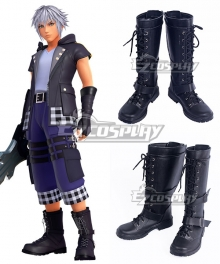 Kingdom Hearts III Riku Black Shoes Cosplay Boots