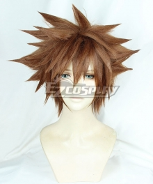 Kingdom Hearts III Sora Brown Yellow Cosplay Wig
