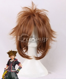 Kingdom Hearts Sora Light Brown Cosplay Wig