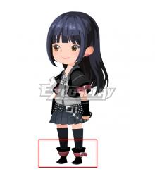 Kingdom Hearts Union X Skuld Black Shoes Cosplay Boots