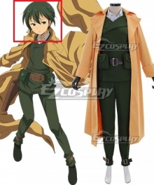 Kino's Journey Kino Dark Green Cosplay Wig