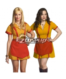Adult TV Show  2 Broke Girls Max and Caroline Diner Waitress Costume